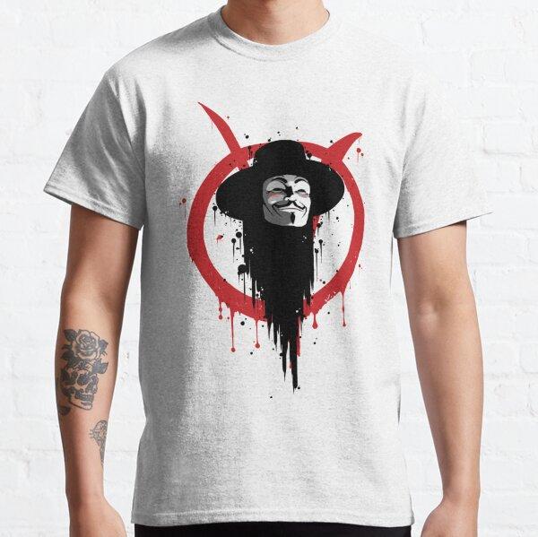 V para Vendetta Ink Camiseta clásica