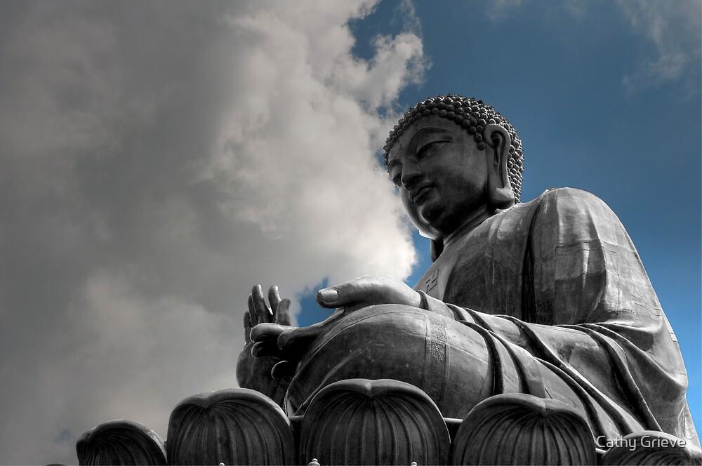 Big Buddha, Hong Kong by Cathy Grieve