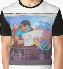 #Mural #Painting #groupofpeople #30years #midadult #20years #youngadult #adult #mural #streetart #people #art #painting #graffiti #realpeople #horizontal #colorimage #wide #women #females #men #males Graphic T-Shirt