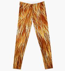 Ginger Red Hair Animal Fur Pattern Leggings