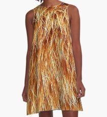 Ginger Red Hair Animal Fur Pattern A-Line Dress