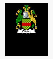 Winder Coat of Arms - Family Crest Shirt Photographic Print