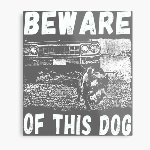 Beware Of This Dog Metal Print
