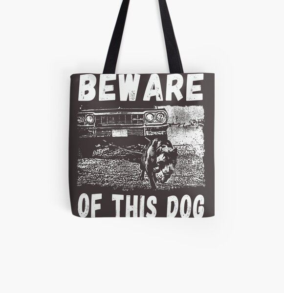 Beware Of This Dog All Over Print Tote Bag