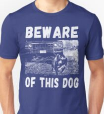 Beware Of This Dog Slim Fit T-Shirt