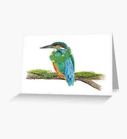 Holiday Kingfisher Greeting Card