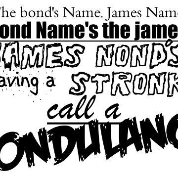 CALL A BONDULANCE by sianbrierley