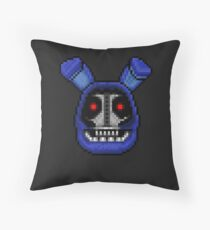 Adventure Withered Bonnie - FNAF World - Pixel Art Throw Pillow