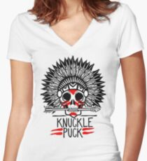 Knuckle Puck Women's Fitted V-Neck T-Shirt