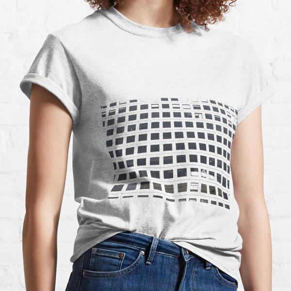 #commercialbuilding #skyscraper #facade #pattern #architecture #modern #steel #design #horizontal #colorimage #builtstructure #officebuildingexterior #financialdistrict #day #city #apartment Classic T-Shirt