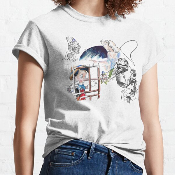 Story Lines - Pinocchio Characters Classic T-Shirt