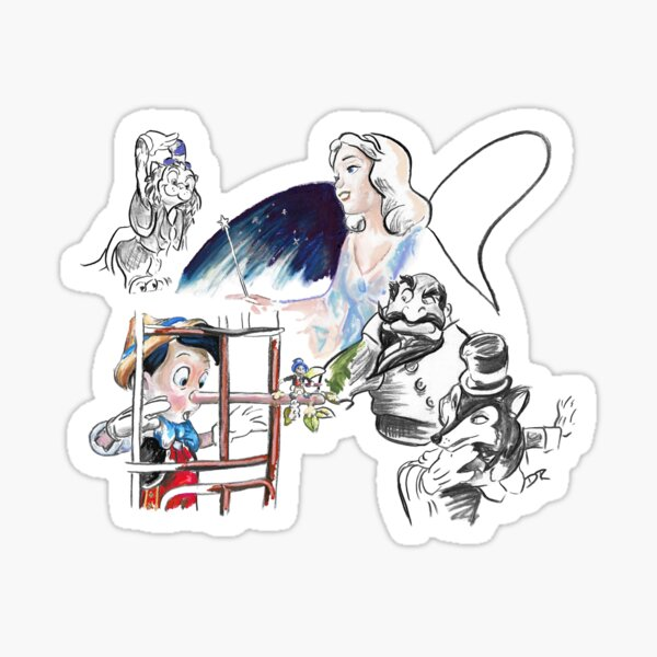 Story Lines - Pinocchio Characters Sticker