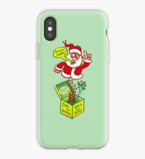 Santa Claus asking if you deserve a Christmas gift iPhone Case