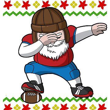 Dabbing Football Santa Ugly Christmas by frittata