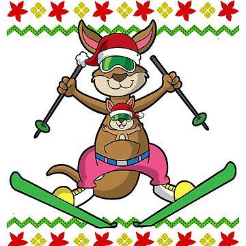 Kangaroo Ski Jump Ugly Christmas by frittata