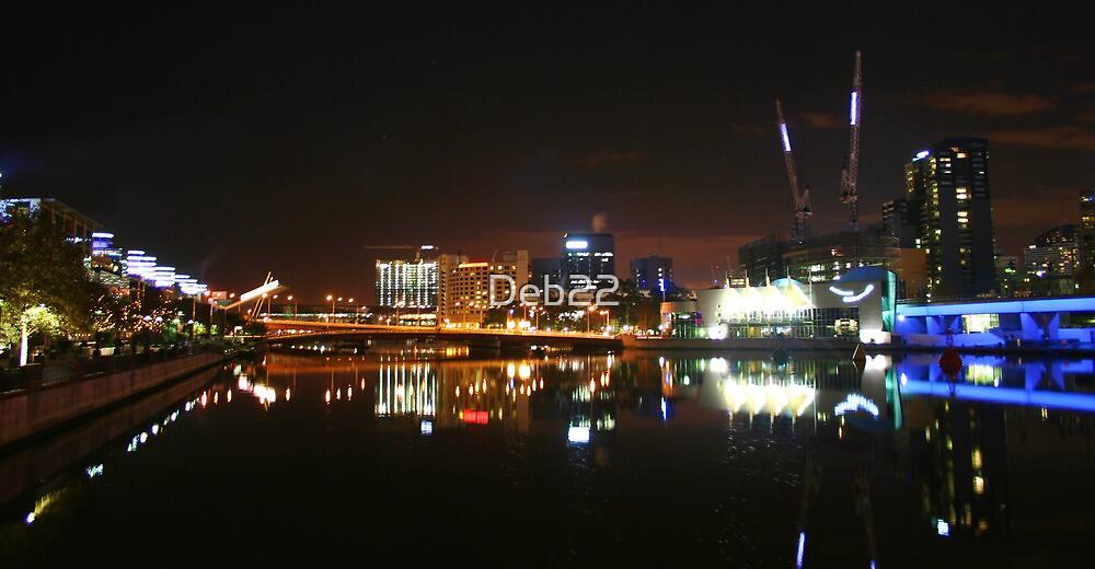 Yarra River at night, Melbourne, Australia by Deb22