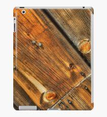 Wood Grain Pattern on Weathered Wooden Boards iPad Case/Skin