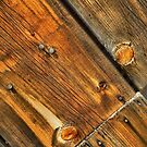 Wood Grain Pattern on Weathered Wooden Boards by John Kelly Photography (UK)