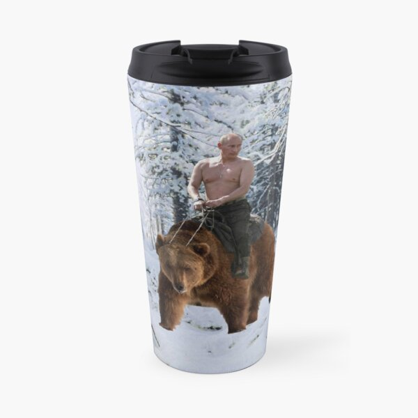 Putin on a bear Travel Mug