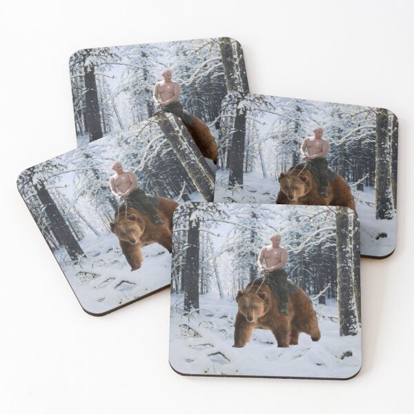 Putin on a bear Coasters (Set of 4)