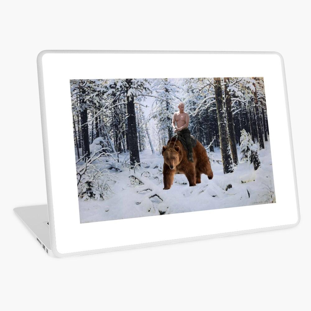 Putin en un oso Vinilo para portátil