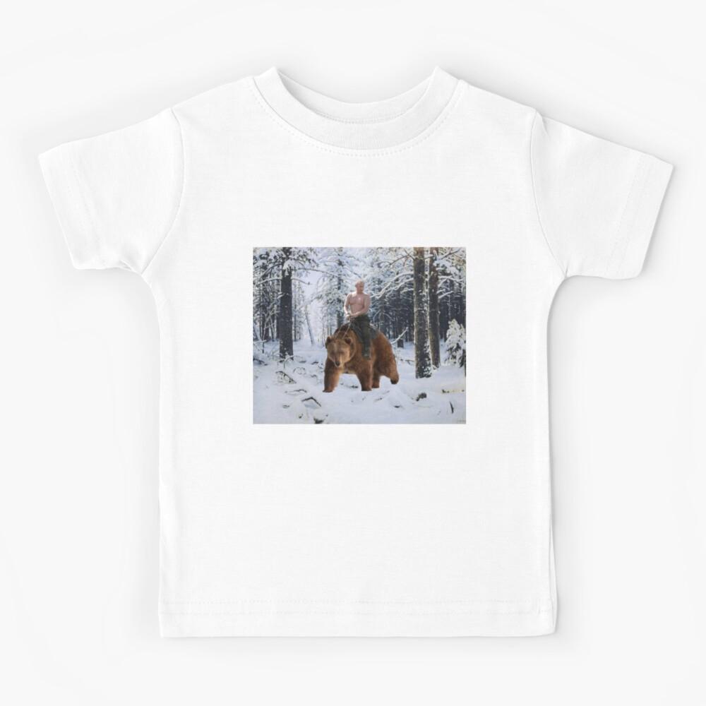 Putin en un oso Camiseta para niños