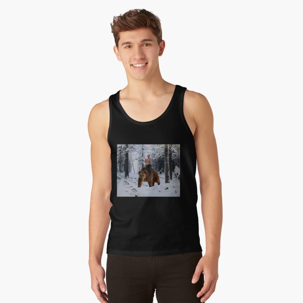 Putin en un oso Camiseta de tirantes