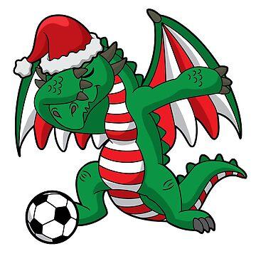 Dabbing Dragon Soccer Ugly Christmas by frittata