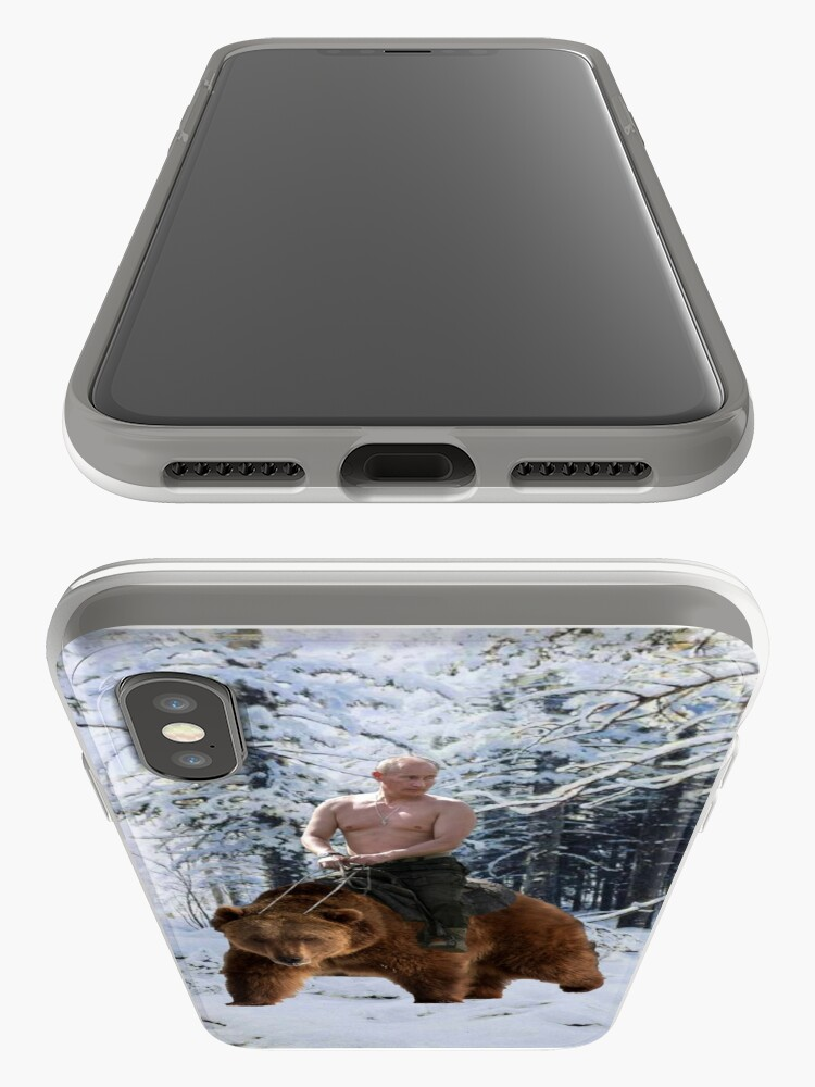 Vista alternativa de Funda y vinilo para iPhone Putin en un oso