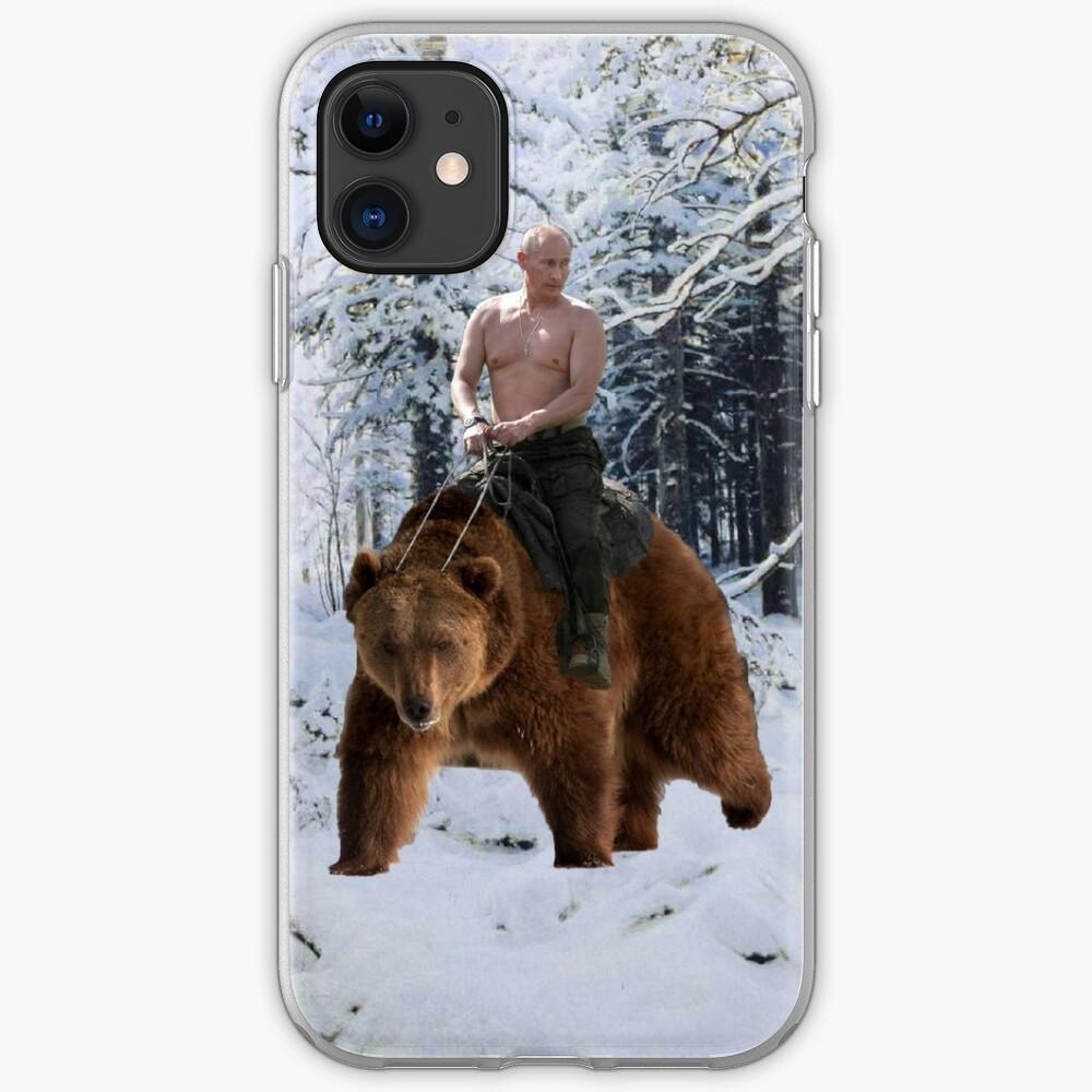 Putin en un oso Funda y vinilo para iPhone