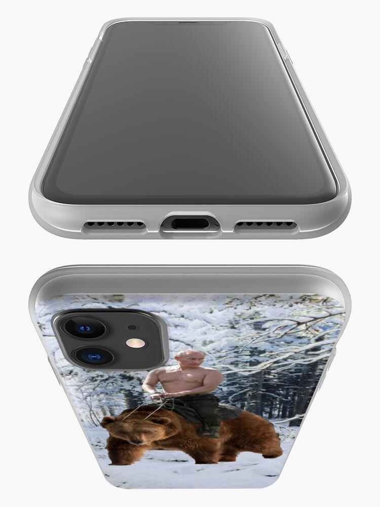 Vista alternativa de Funda y vinilo para iPhone Putin en un oso