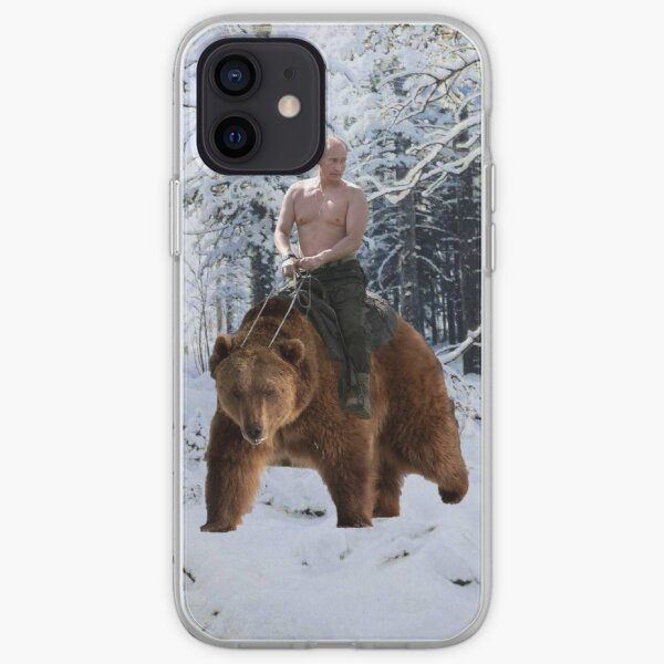 Putin on a bear iPhone Soft Case