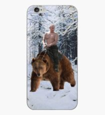 Putin on a bear iPhone Case