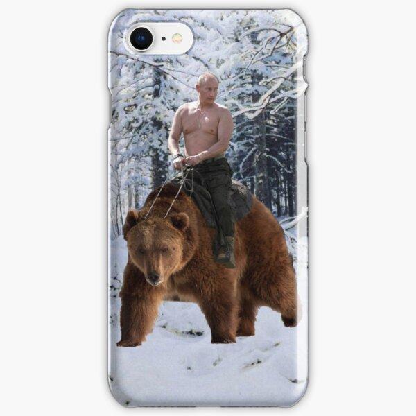 Putin on a bear iPhone Snap Case