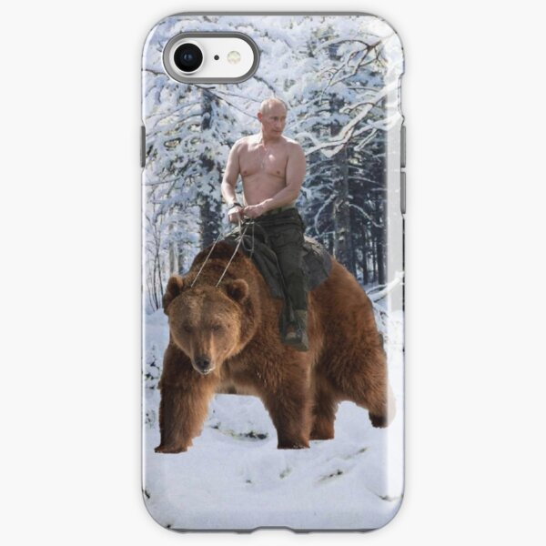 Putin on a bear iPhone Tough Case