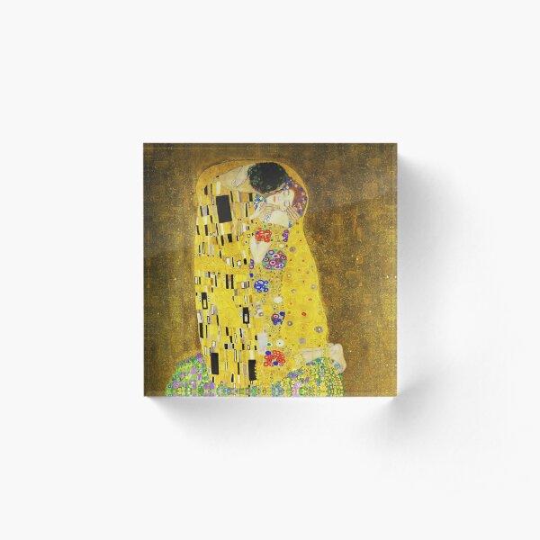 Klimt The Kiss Acrylic Block
