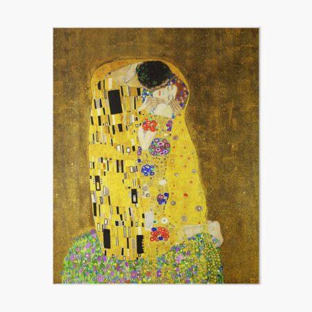 Klimt The Kiss Art Board Print
