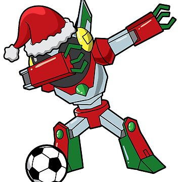 Dabbing Robot Soccer Ugly Christmas by frittata