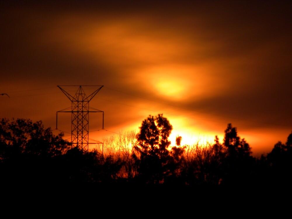Santa Fe Dam Fire....nahh...Sunset by 37giggles