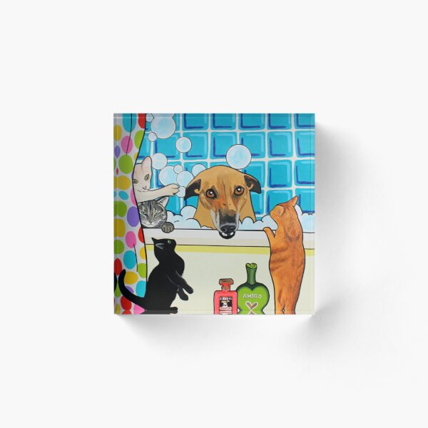 Bath time with friends Acrylic Block
