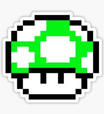 PIXEL - 1UP mushroom Sticker