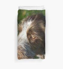 Brown Roan Italian Spinone Puppy Dog Head Shot Duvet Cover