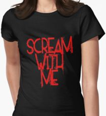 Scream With Me Women's Fitted T-Shirt
