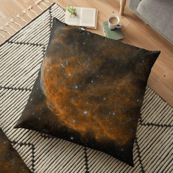 jellyfish nebula Floor Pillow