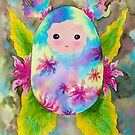 Baby cocoon #5 earth tone Chrysalis newborn baby gift idea painting by See Foon