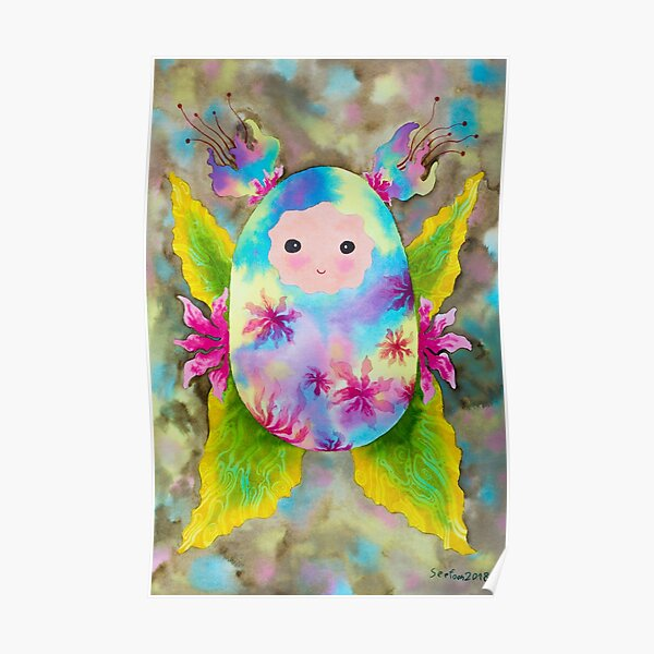 Baby cocoon #5 earth tone Chrysalis newborn baby gift idea painting Poster