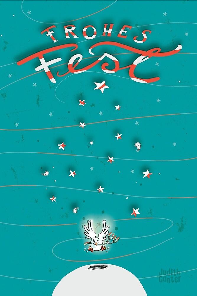Taube - Frohes Fest von Judith Ganter