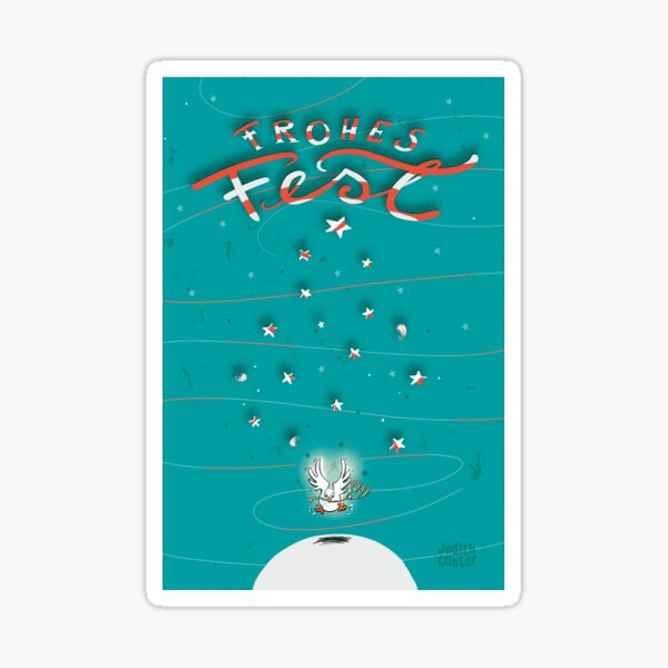 Taube - Frohes Fest Sticker