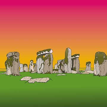 Sunset Stonehenge by dukeofgarbanzo