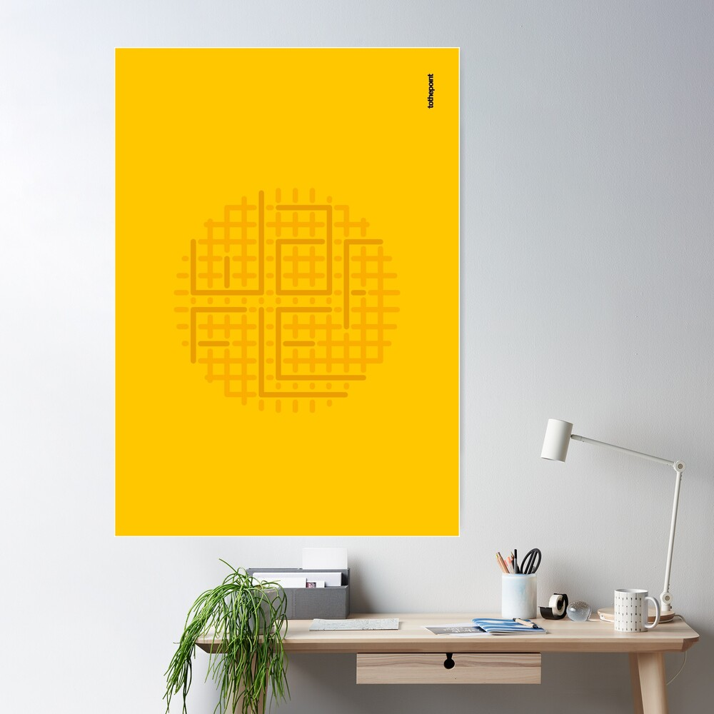 cut out the waffle Poster